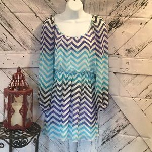 ACCIDENTALLY IN LOVE chevron print dress size S